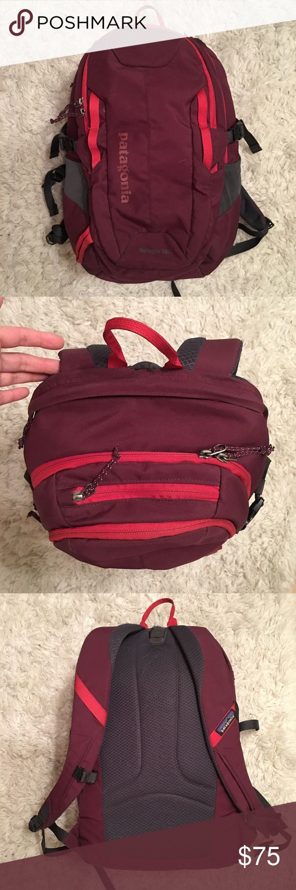 "Patagonia Backpack Selling my 28L Refugio Patagonia backpack in ""oxblood red."" Lightly used, great backpack! Make an offer if you'd like :) no trades please Patagonia Bags Backpacks"