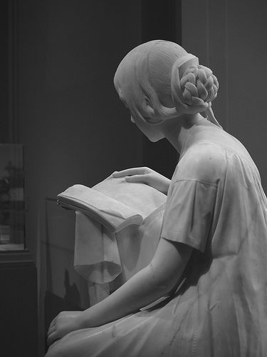 Pietro Magni's marble statue The Reading Girl , at the National Gallery of Art in Washington D.C