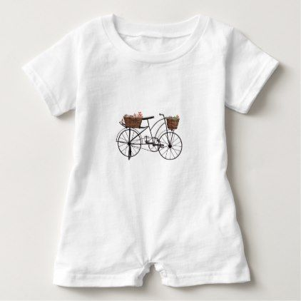 Antique bicycle baby romper - antique gifts stylish cool diy custom