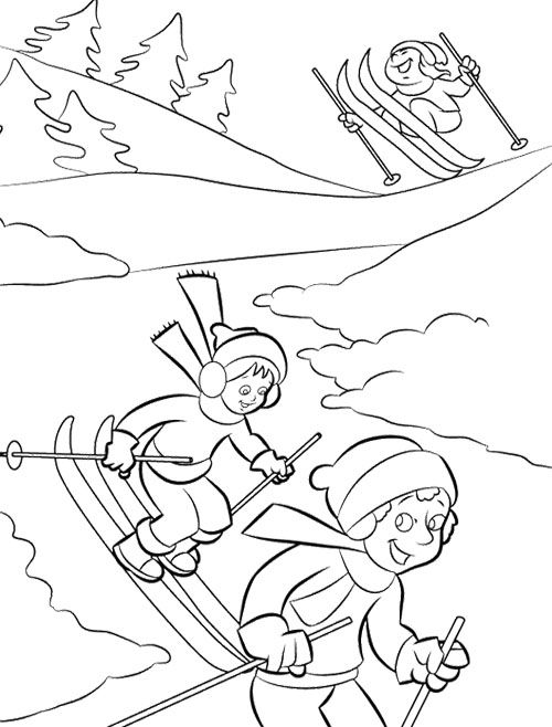 Happy Winter Coloring Page