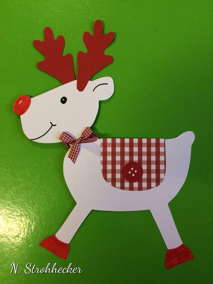 Cute paper reindeer