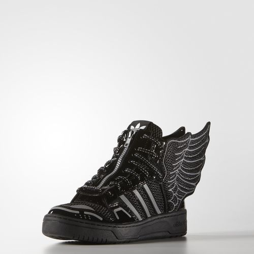 Black Adidas, Jeremy Scott, Black Shoes, Mesh, Black White, Wings, Sneaker,  Heaven, Slippers
