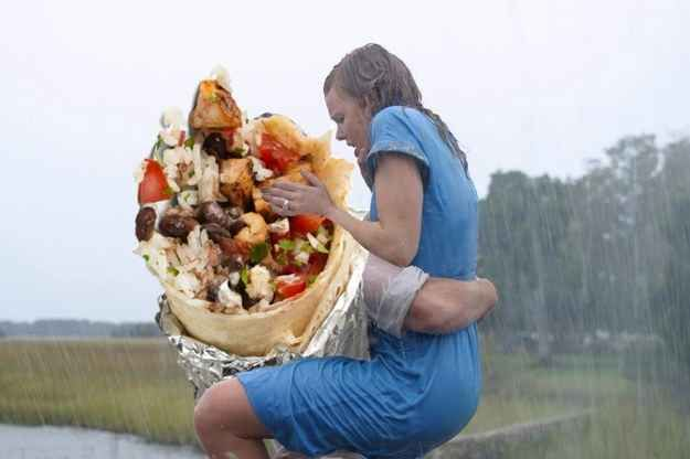 The Notebook (2004) | 12 Classic Love Scenes Improved By A Chipotle Burrito