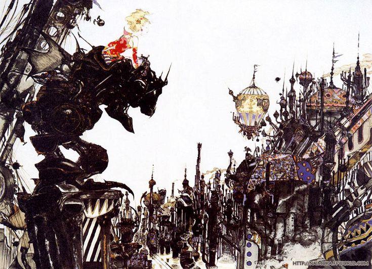 Terra, Final Fantasy VI, Yoshitaka Amano #illustration #game