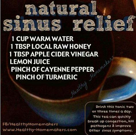 Natural Sinus Relief Remedy. This is the best way to relieve a sinus headache.