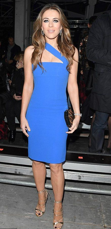 Elizabeth Hurly in DSquared2 attends Milan Men's Fashion Week. #bestdressed