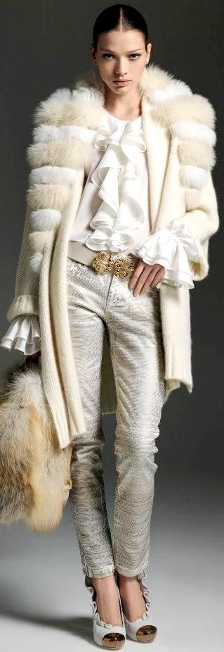 Blumarine F/W 2013. The outfit is cute, but I WANT THE FUR COAT!!!!