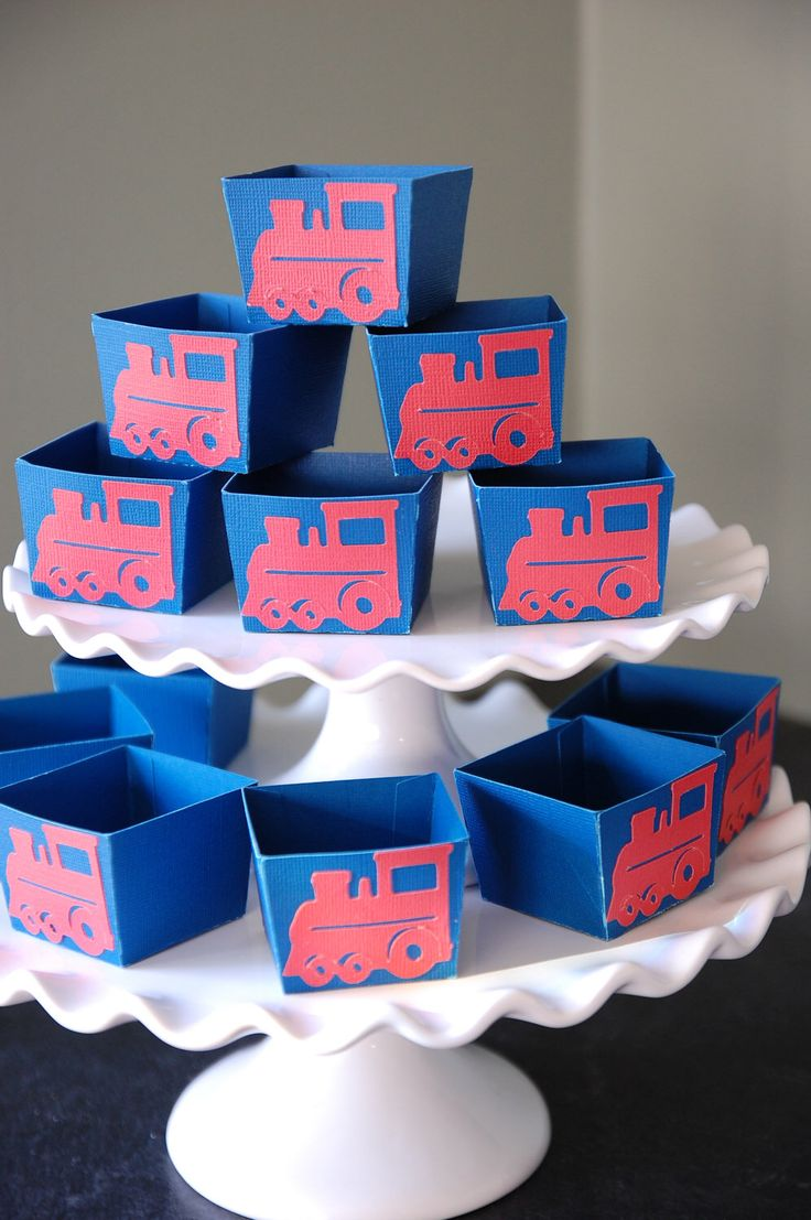 Train Candy Cups, Train Party Supplies, Train Birthday, Train Party Favors, Choo Choo, 12 Pcs by GiggleBees on Etsy https://www.etsy.com/listing/98234881/train-candy-cups-train-party-supplies