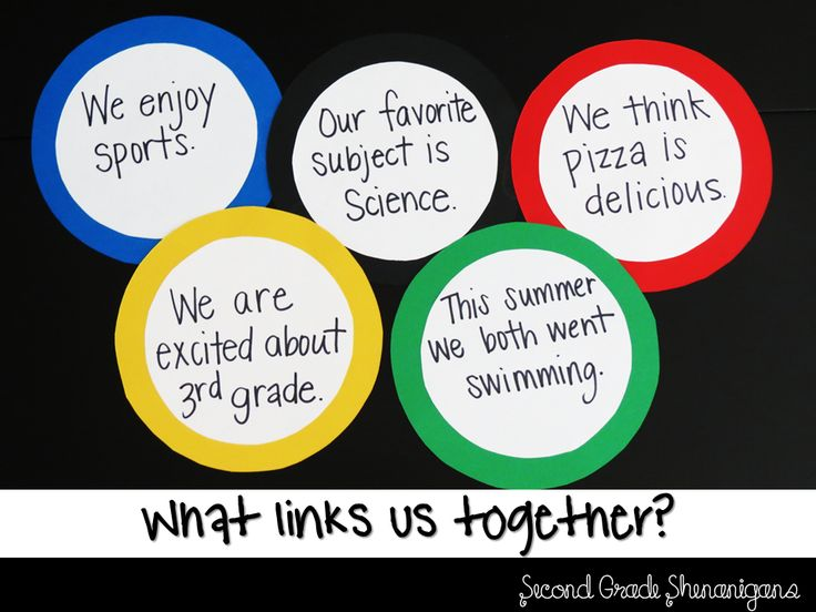 Great 1st week activity for Olympic Theme