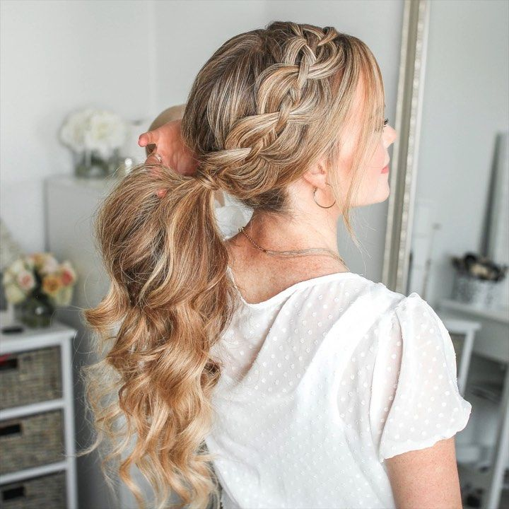 """Feb 12, 2020 - Melissa Cook ( Missy ) on Instagram: """"4 Strand Braid Pony 🎥 I get so many questions when I wear this braid ✨ Click the link in my bio to see the full tutorial on my YouTube…"""""""
