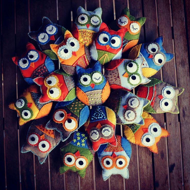 #gufetti #gufi #owl #fattiamano #handmade #madrinitaly #pannolenci