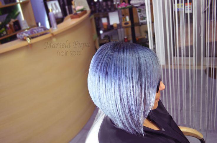 Grigio lilla capelli