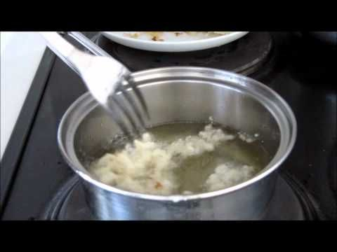 How to make Tempura Flakes 天ぷら with normal flour (with egg) - YouTube