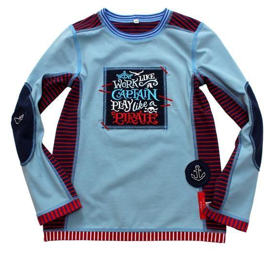 jungen t shirt 134 140 piratenshirt pirat blau etsy shirts hemd