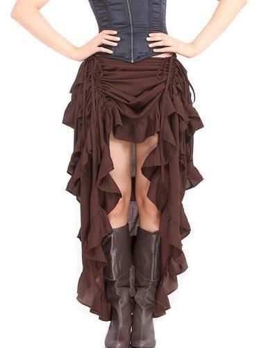 Rock CanCan Steampunk Burlesque Wild West Victorian Gothic WGT Amphi RQ Brown