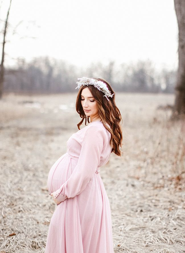 Rustic Blush Maternity Photos - Inspired By This