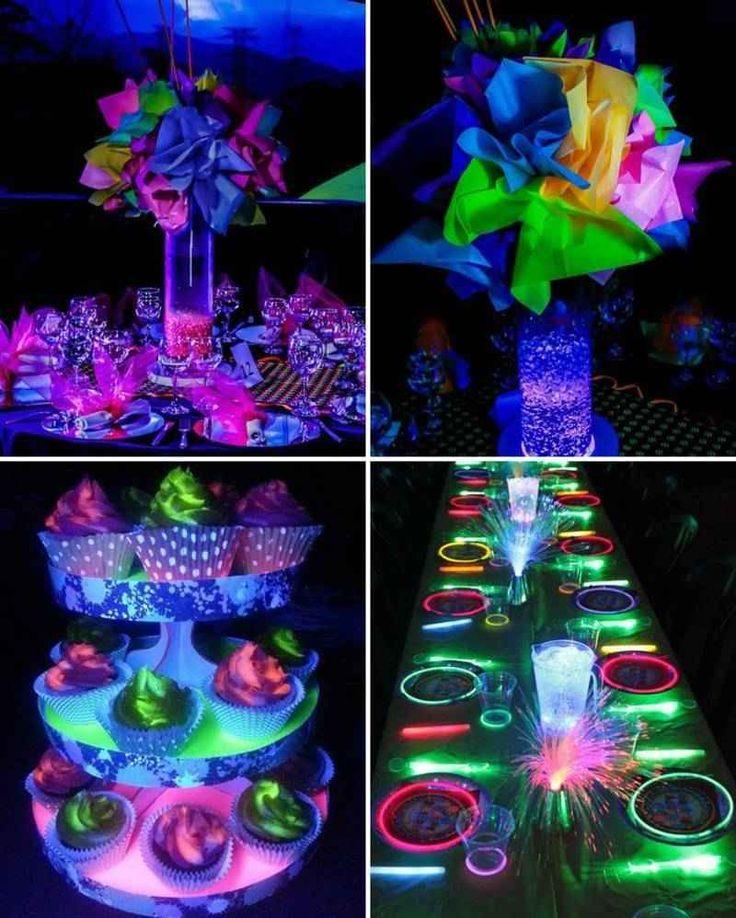 centros de mesa de neon