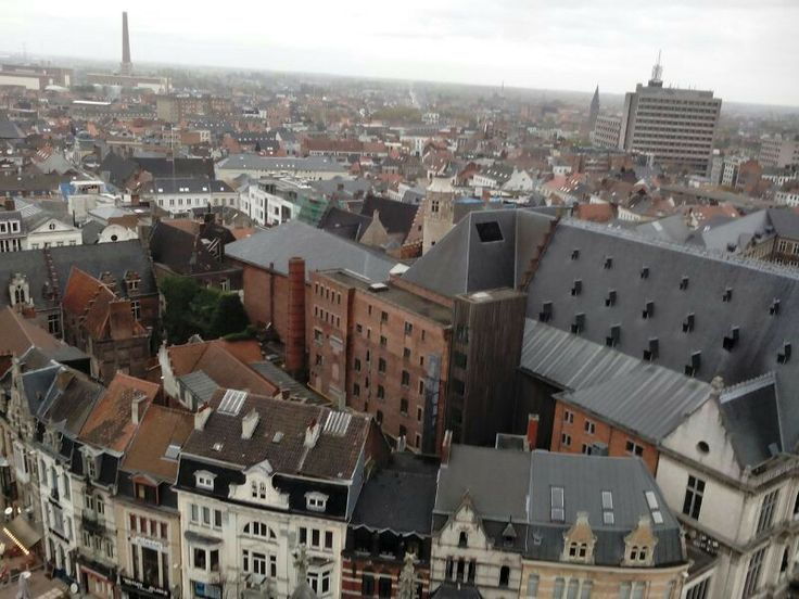 View of Ghent from Belfort Tower