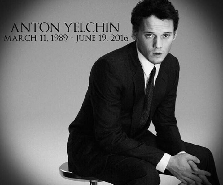 Anton Yelchin- an amazing talent. He lets me get lost in a story. Gone too soon... 1989-2016