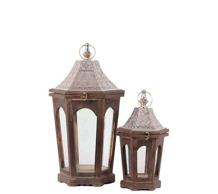 47 best lanterns indoor and outdoor decor images on for Wooden garden lanterns