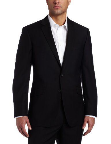 Kenneth Cole Reaction Men`s Black Solid Suit Separate Coat - List price: $200.00 Price: $99.99 + Free Shipping