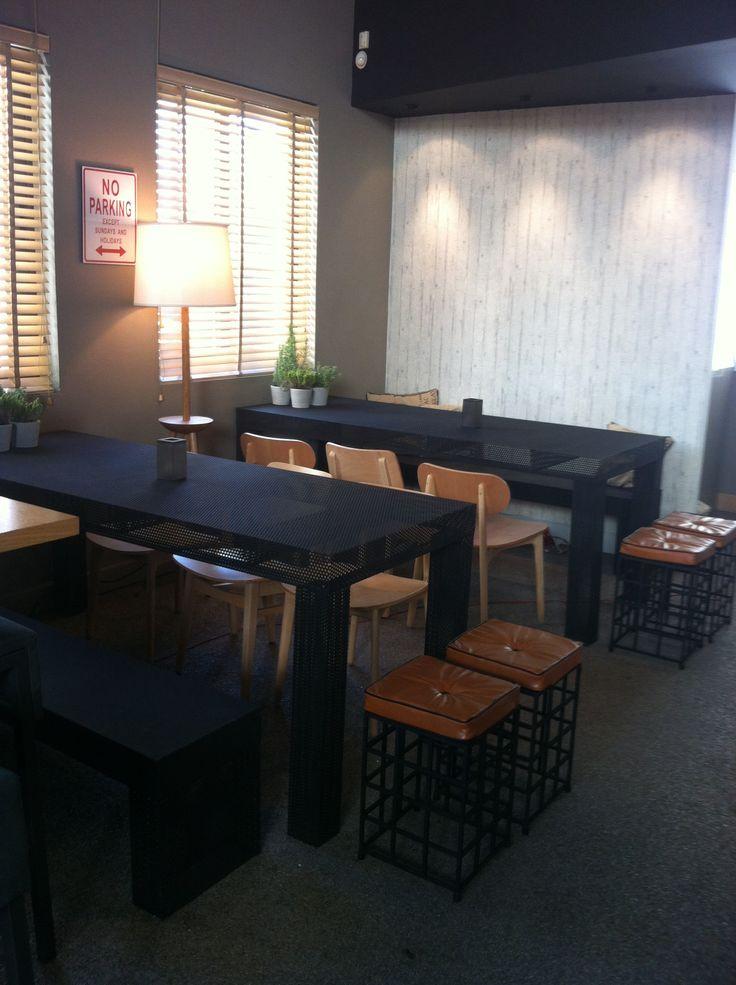 Lemon Tree Cafe - wood + dark steel , 2vlo.com , our home places