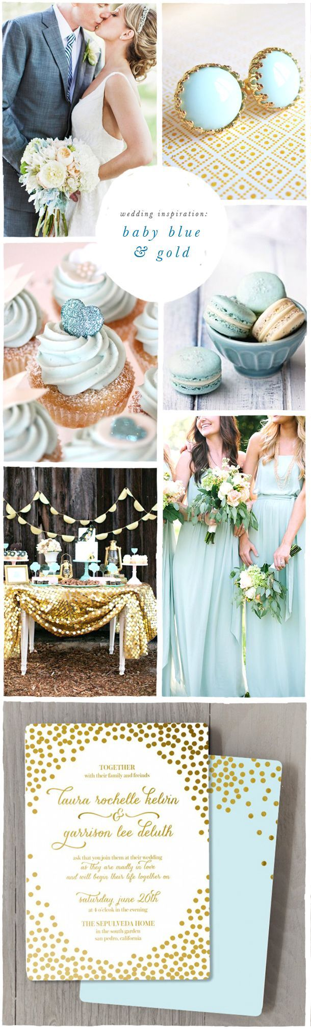 Blue & Gold Wedding Inspiration | Ft. Confetti Foil Wedding invite by Smitten On Paper