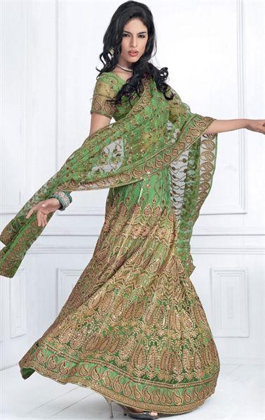 Gorgeous Green color Designer Wedding Lehenga Choli INHSPXIC8004A - www.indianwardrobe.com