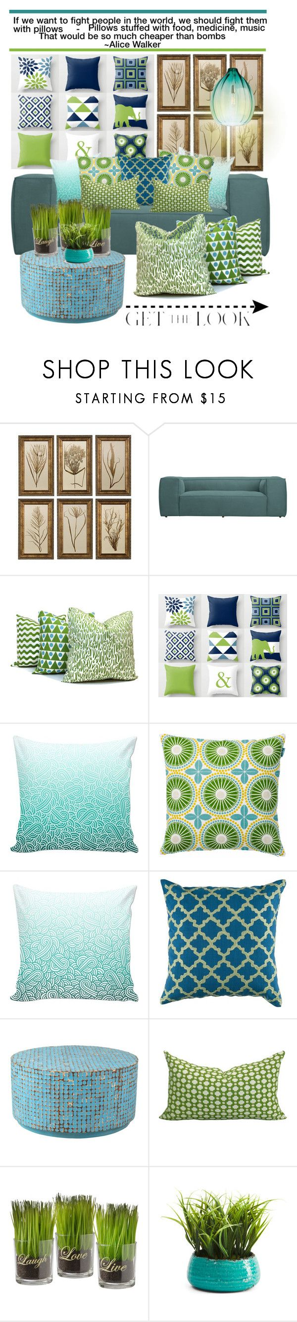 """""""Pillow Fight"""" by rehtaeh69 ❤ liked on Polyvore featuring interior, interiors, interior design, home, home decor, interior decorating, East at Main and Tech Lighting"""