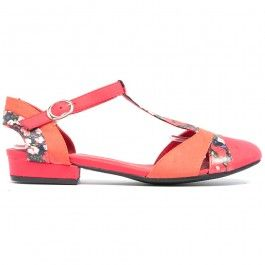 Amarti Red Floral - All Heels - Heels