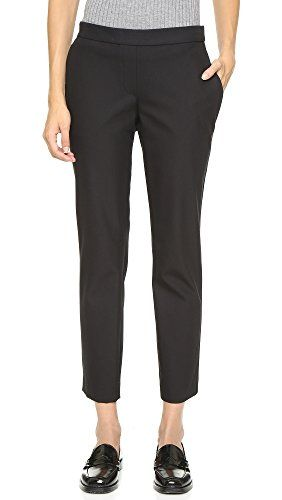 Theory Women's Approach Thaniel Pants, Black, 12 Classic Theory pants in a slim silhouette. Slant front pockets. Covered elastic waist. Faux fly.Stretch suiting52% cotton/39% nylon/9% elastaneDry clean