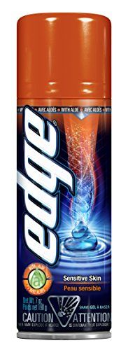 Edge Shave Gel for Men Sensitive Skin - 7 Ounce (Pack of 6). CONTAINS ALOE and is formulated to be non-irritating on sensitive skin. MOISTURIZERS AND LUBRICANTS provide excellent razor glide. COOLING CONDITIONERS leave your face feeling refreshed. FOR ULTIMATE SKIN PROTECTION use Edge(r) Shave Gel for men with the Schick Hydro(r) 5 razor.