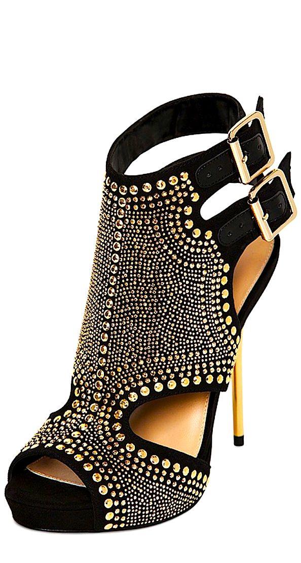 Carvela Kurt Geiger | Black Gyrate Stud-embellished Sandals