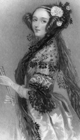 Ada Lovelace. Mathematician. Considered world's first computer programmer. Daughter of Lord Byron.