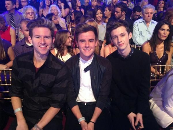 Ricky, Connor, and Troye at Dancing with the Stars