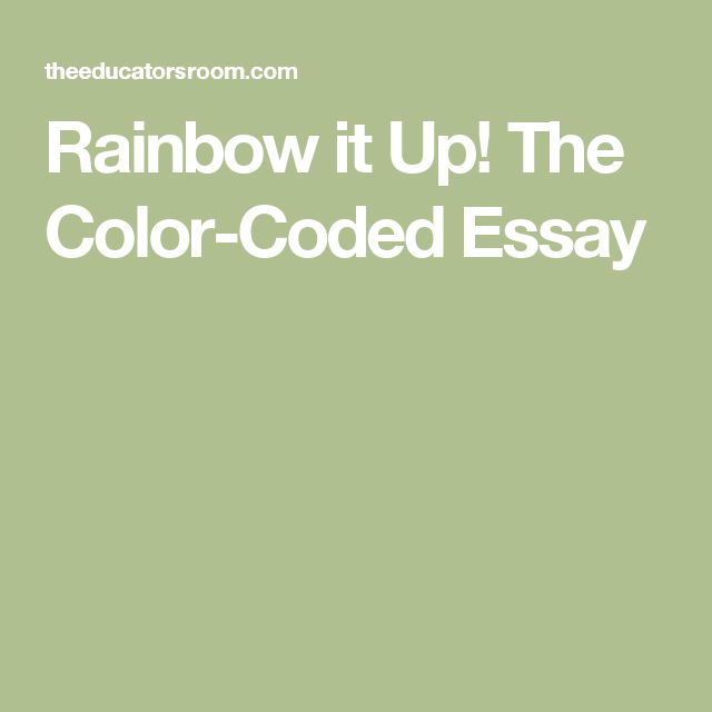 essay on rainbow colours Rainbow facts for kids a rainbow occurs when it is raining in one part of the sky and sunny in another the colors of the rainbow are red, orange.