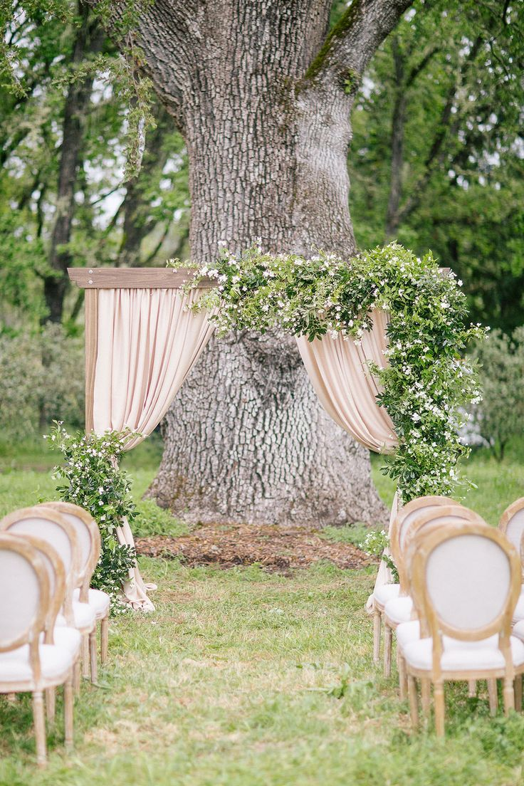 natural and organic wedding ceremony decor