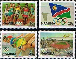 Namibia 1992 Olympic Games Set Fine Mint SG 597 600 Scott 718 21 Other African and British Commonwealth Stamps HERE!