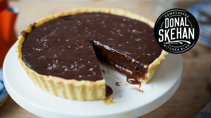 Chocolate salted caramel tart