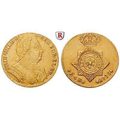 Brandenburg-Preussen, Königreich Preussen, Friedrich Wilhelm I., Dukat 1735, ss-vz: Friedrich Wilhelm I. 1713-1740. Dukat 1735… #coins