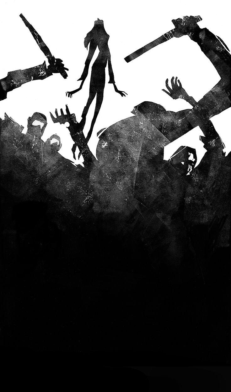 """The Choreography of Masks"" by David Pomerico, art by Jeffrey Alan Love"