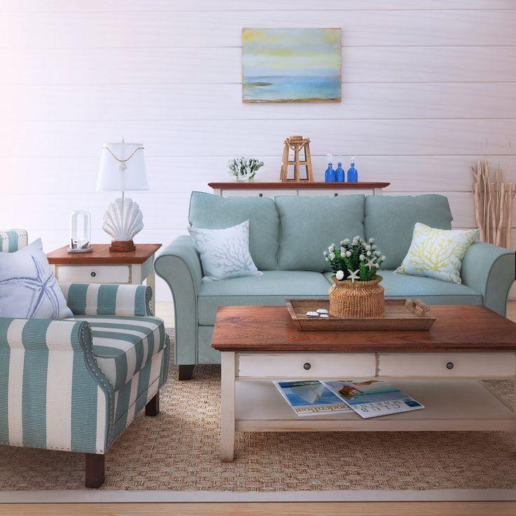 Beachcrest Home Paget Sofa Seaside StyleLiving Room SetsPillow ShamsBed