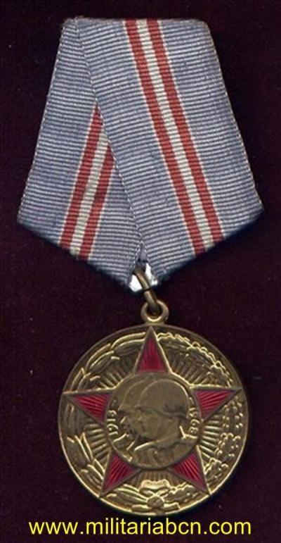 URSS. UNION SOVIETICA. MEDALLA DEL 50 ANIVERSARIO DEL EJÉRCITO ROJO.