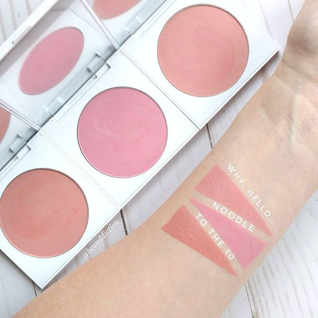 Swatches of the new @colourpopcosmetics Pressed Powder Blushes. 😍😍😍 These are everything! So soft and blend beautifully. 👍👍 They have a soft satin matte finish that doesn't accentuate texture and have good lasting power (6-7 hours on me). Definitely picking up more! ❤️
