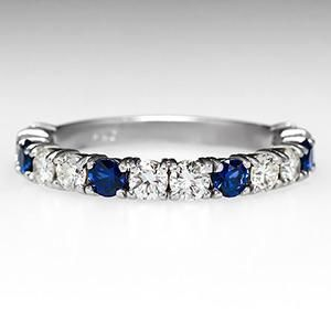 Something like this may be a good idea only with two sapphires and the rest diamonds, including diamond from Nana's ring along with a diamond of matching size.