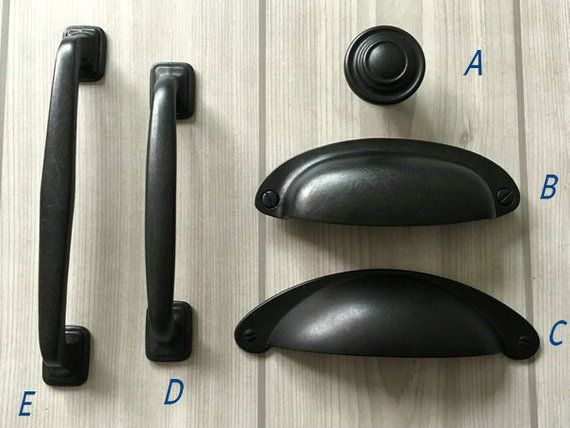 """Dark Oil Rubbed Bronze Rope Kitchen Bathroom Cabinet Drawer Knobs and Pulls 3/"""""""