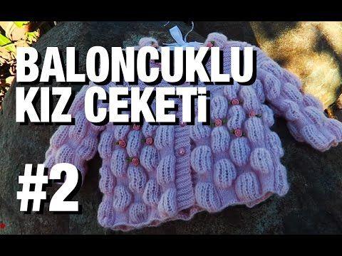 Örgü Bebek Hırkası Yapımı Türkçe Videolu Anlatım - El Sanatları ve Hobi