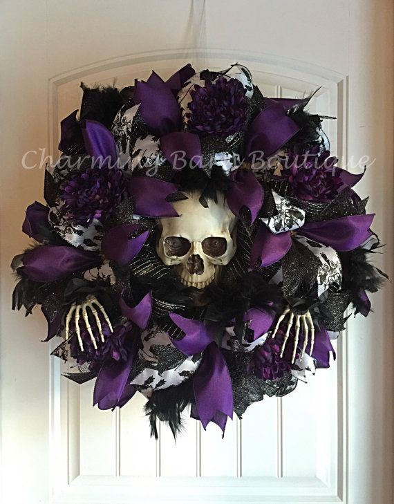 Halloween Wreath Light Up Halloween Wreath by CharmingBarnBoutique