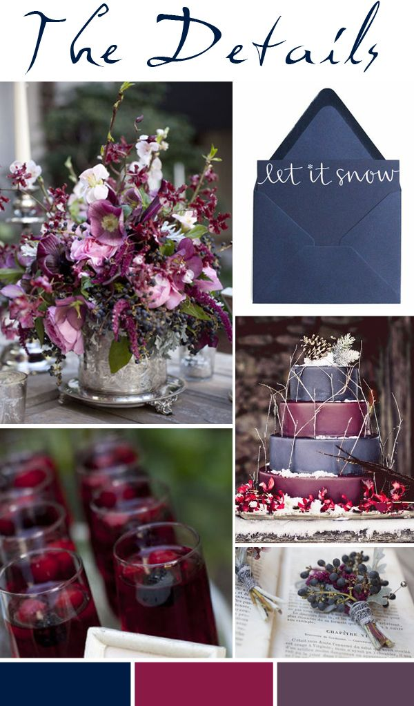 Gorgeous Colours!! Pocketful of Dreams, Wedding Planners, Wedding Stylists, Wedding Design, Wedding Planning, Wedding Mood Board, Wedding Inspiration, Winter, Blue, Plum, Purple, Decadent,