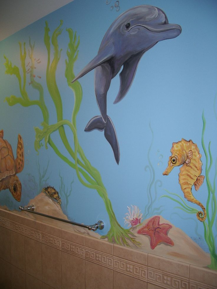 161 best images about underwater mural ideas on pinterest for Underwater mural ideas